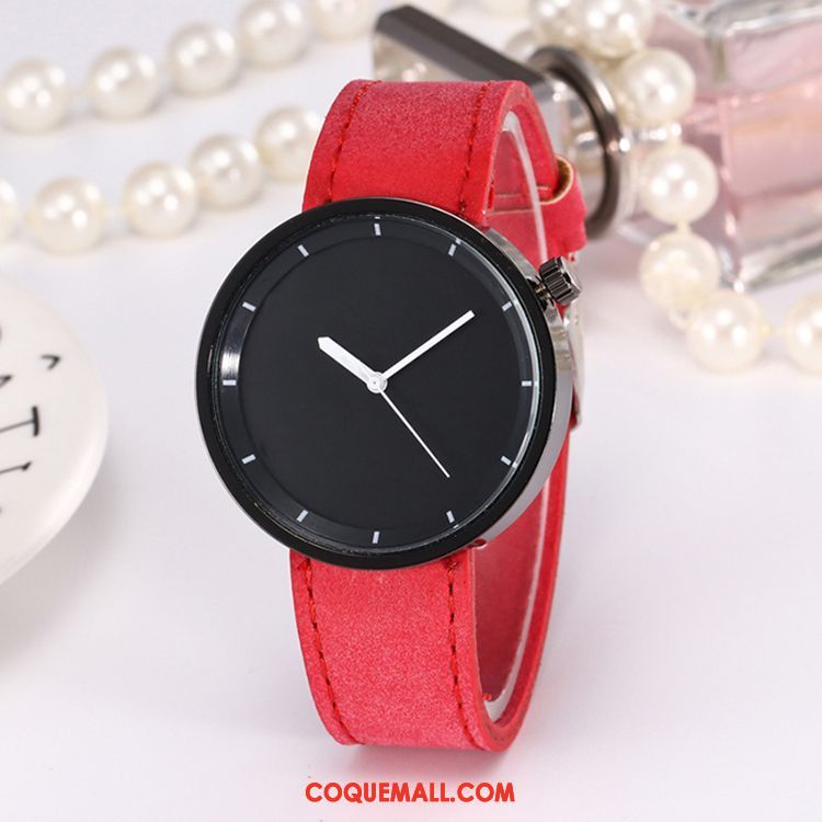 Gant Femme Étudiant Montre À Quartz Simple, Gant Confortable Ceinture