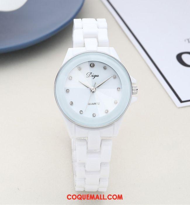 Gant Femme Mode Diamant Blanc, Gant Montre À Quartz Marque
